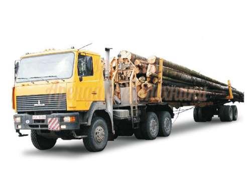 Перевозка леса лесовозом 1-10т